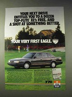 1988 Eagle Premier Car Ad - Next Drive Top-Flite Xl's