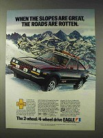 1983 Eagle SX-4 Liftback Car Ad - Roads are Rotten