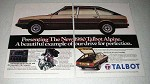 1980 Talbot Alpine Car Ad - Our Drive For Perfection