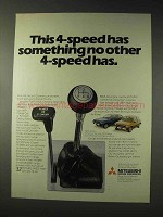 1979 Mitsubishi Car Ad - Something No Other 4-Speed Has
