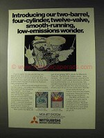 1978 Mitsubishi Car Ad - Our Low-Emissions Wonder