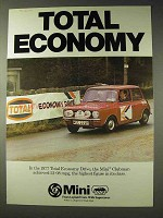 1977 Leyland Mini Clubman Car Ad - Total Economy