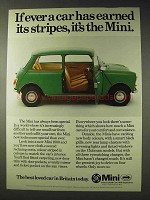 1977 Leyland Mini 1000 Car Ad - Earned Its Stripes