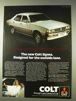1977 Mitsubishi Colt Sigma Car Ad - The Outside Lane