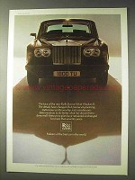 1977 Rolls Royce Silver Shadow II Car Ad - The Face