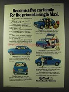 1976 Leyland Maxi Car Ad - Become a Five Car Family