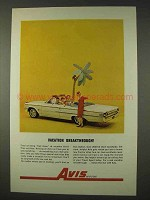 1962 Avis Rent-A-Car Ad - Vacation Breakthrough