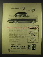 1960 Wolseley 15/60 Car Ad - Lovely To Look At