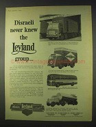 1959 Leyland Truck Ad - Octopus, Claymore, Tiger Cub +