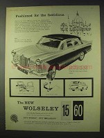 1959 Wolseley 15/60 Car Ad - Fashioned for Fastidious