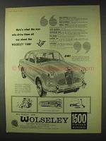 1959 Wolseley 1500 Car Ad - The Men Who Drive Them
