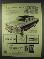 1959 Wolseley 15/60 Car Ad - Farina Links With Luxury