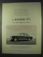 1959 Rover 90 Car Ad - A Rewarding Car To Own