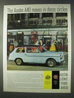 1959 Austin A40 Car Ad - Moves in Dress Circles