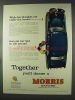 1958 Morris Oxford Car Ad - Thoughts Under Bonnet