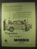 1958 Morris Oxford Car Ad - Thoughts Under The Bonnet