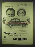 1958 Morris Minor 1000 Car Ad - Room For All Of Us