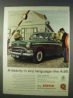 1958 Austin A.95 Saloon Car Ad - Beauty Any Language