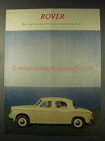 1958 Rover Car Ad - Outstanding Range of Cars
