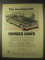 1958 Humber Hawk Car Ad