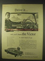 1958 Vauxhall Victor Car Ad - Drive It And You'll Know