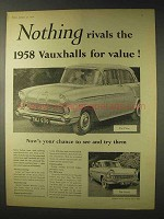 1958 Vauxhall Victor, Cresta Car Ad - Nothing Rivals