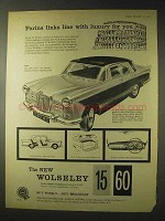 1958 Wolseley 15/60 Car Ad - Farina Links With Luxury