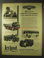 1958 Leyland Truck Ad - Hippo, Tiger Cub, Claymore
