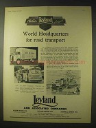 1958 Leyland Truck Ad - Albion Clydesdale, Royal Tiger