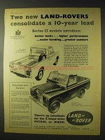 1958 Land Rover Series II Long, Series II Regular Ad