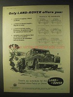 1958 Land Rover Ad - Regular Land Rover canvas top