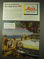 1957 Avis Rent-A-Car Ad - Extra Days Of Fun