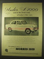 1957 Morris Isis Car Ad - Front Rank of Fine Cars