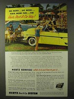 1955 Hertz Rent-A-Car Ad - See More, Do More