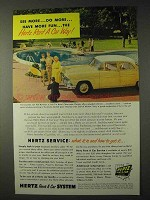 1955 Hertz Rent-A-Car Ad - Do More