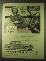 1955 Humber Super Snipe Car Ad - Fashion Flair