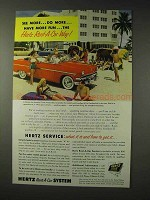 1954 Hertz Rent-A-Car Ad - Do More