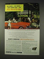 1954 Hertz Rent-A-Car Ad - See More, Do More