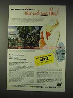 1952 Hertz Rent-A-Car Ad - Have Much More Fun!