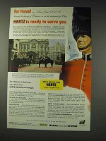 1952 Hertz Rent-A-Car Ad - Ready To Serve