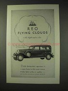 1931 REO Flying Cloud Car Ad - Five Passenger Sedan