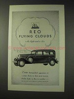1931 REO Flying Cloud Eight Five-Passenger Sedan Ad
