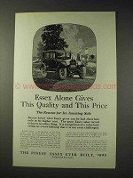 1925 Essex Car Ad - Gives This Quality and This Price