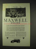 1923 Maxwell Car Ad - The Good Maxwell Engine