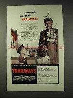 1959 Trailways Bus Ad - Can Only Happen On Trailways