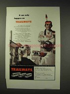 1959 Trailways Bus Ad - It Can Only Happen On Trailways