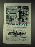1957 Trailways Bus Ad - This is Your Year For Travel
