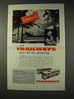 1956 Trailways Bus Ad