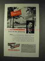 1956 Trailways Bus Ad - Dream-Aids