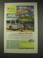 1955 Greyhound Bus Ad - New England